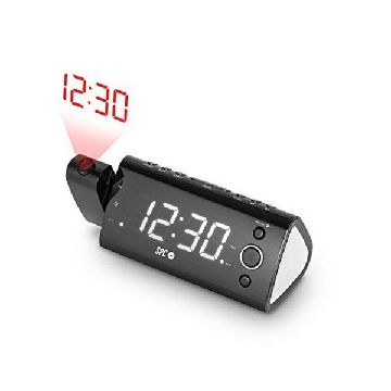 "Radio Alarm Clock with LCD Projector SPC 4571B 1.2"" FM Black"