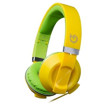 Headphones with Microphone Hiditec COOL KIDS WHP010006 Yellow