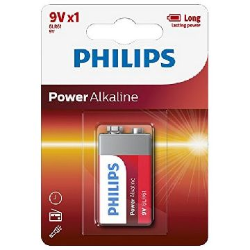 Alkaline Batteri Philips 6LR61 9V