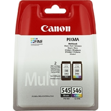 Original Ink Cartridge (pack of 2) Canon PG-545/CL-546 Tricolour Black