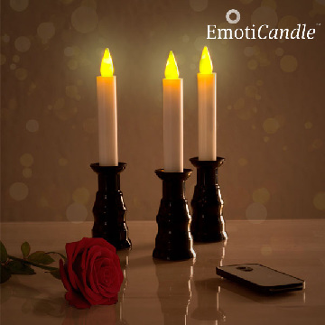 EmotiCandle Romantic Ambiance LED Stearinlys (pakke med 3)
