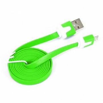 OMEGA Level Cable microUSB-USB 2.0 tablet 1M grøn
