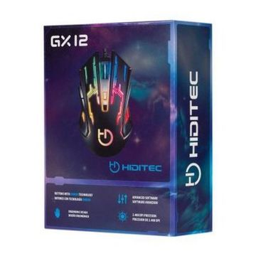 Gaming-mus Hiditec GMO010002 2400 DPI Sort