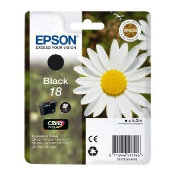 EPSON Blækpatron T1801 sort XP225/322/422