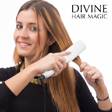 Divine Hair Magic Elektrisk Børste Glattejern