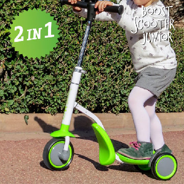 Boost Scooter Junior 2 i 1 Scooter-Tricycle (trehjulet)