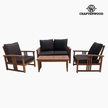Sofa og spisebordssæt Teak (4 pcs) by Craftenwood