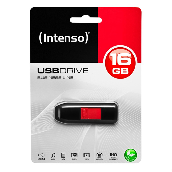 USB-stik INTENSO 3511470 16 GB Sort