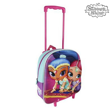 3D School Bag with Wheels Shimmer and Shine 913