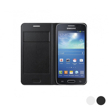 Flip Wallet for Galaxy Core LTE G386F Samsung Hvid