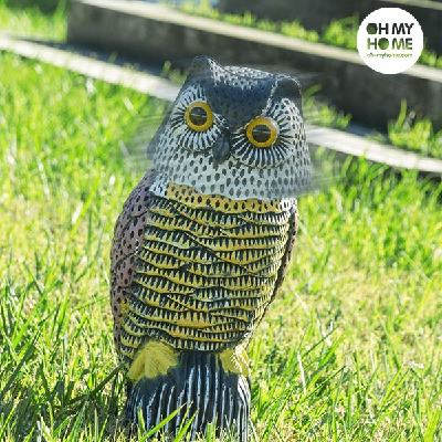 Oh My Home Rotating Head Garden Owl