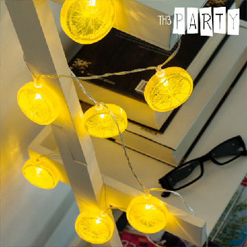 Th3 Party Citronskiver LED Guirlande (10 LED Lys)