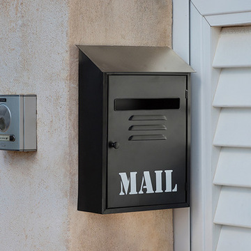 Mail sort metallisk postkasse