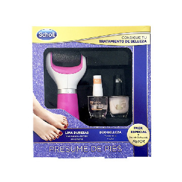 Scholl Velvet Smooth Diamond Crystals Electronic Pedicure File + 2 Free Astor Nail Polishes