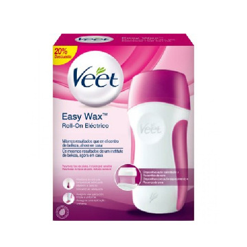 Veet Easy Wax Hair Removal Kit with Warm Wax Roll-on