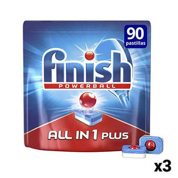 Finish All-in-1 Opvasketabletter 90 stk. (Pakke med 3)