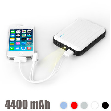 Power Bank med LED 4400 mAh