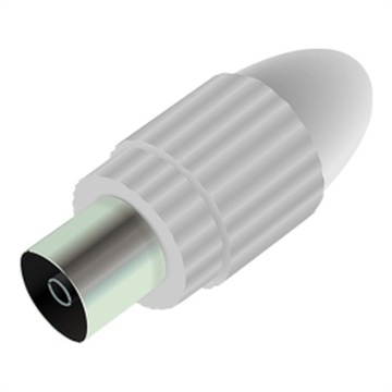 Qnect, Antenna plug female straight, 10.5mm, White