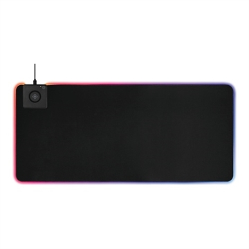 Deltaco, XL RGB mousepad with wireless charging 900x400mm