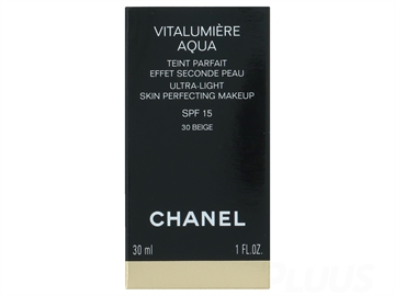 Chanel Vitalumiere Aqua Ultra Light Skin Perfecting Make Up SPF 15 -B10 Beige Pastel 30ml Fondation
