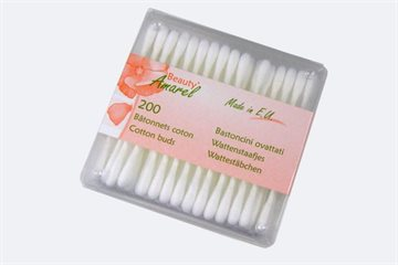 Cotton Swabs 200pc Squared Container Clear Cotton