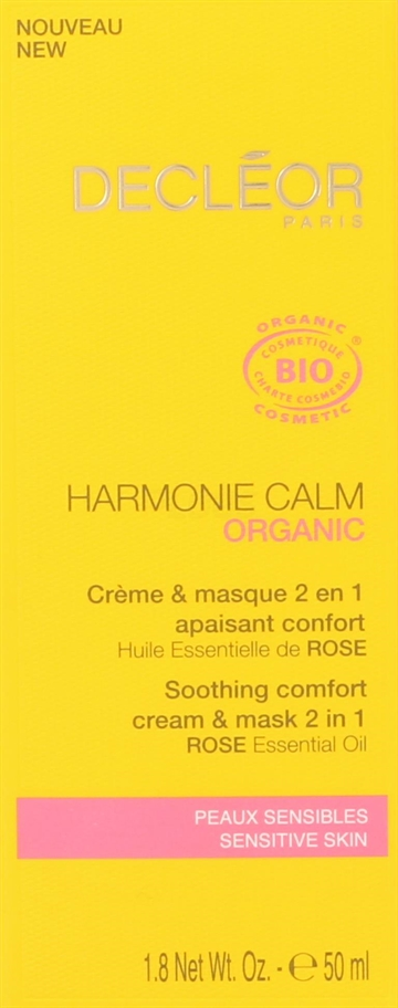Decleor Organic Harmonie Calm Sooth 2-in-1 Cream 50ml