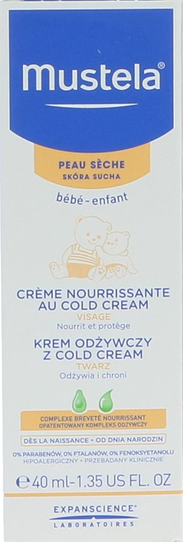Mustela Dry Skin Nourishing Cream Cold Cream 40ml
