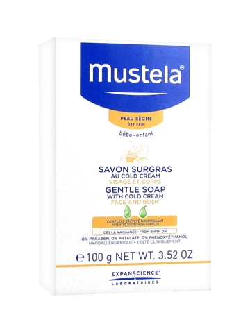 Mustela Gentle Soap With Cold Cream 100Gr Face & Body/Dry Skin