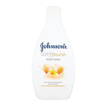 JOHNSON'S BODY WASH SOFT NOURISH 400ML