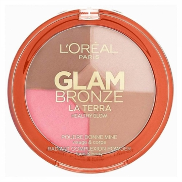 L' Oreal Glam Bronze La Terra Healthy Glow Bronzing Powder - 01 Light Laguna - 6G