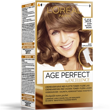 L'ORÉAL  Excellence Age Perfect 5.03 Warm Natural Brown  180ml