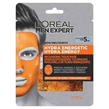 L'Oreal  Men Expert Hydra Energetic Tissue Mask 30G.