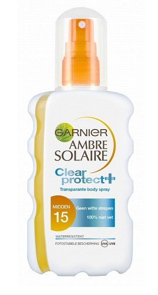 Garnier Solar Spray Transparent 200ml Protection 15