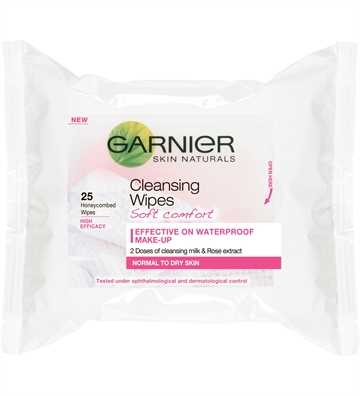 Garnier Skinactive Soft Comfort Cleansing Wipes 25 pcs