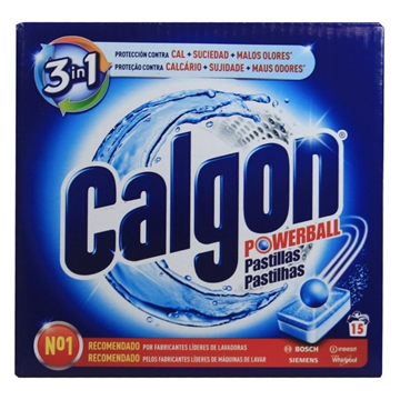 Calgon Tablets Powerball 195G  3 In 1 - 15 U
