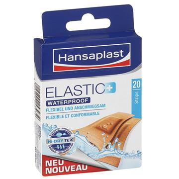Hansaplast Band Aid 20' Elastic Waterproof Brown