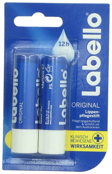Labello Lip Balm - Classic Duo 9.6 grDuo-pack 2x 4,8 gr