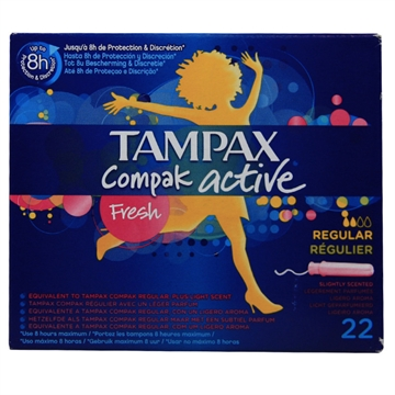 TAMPAX COMPAK ACTIVE Regular 22 Pieces