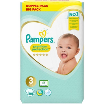 Pampers Premium Protection Str. 3 (6-10 kg) - 70 stk