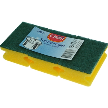 Cleaning Sponges With Grip 3'