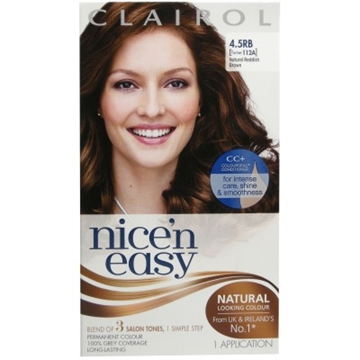 Clairol Nice'n Easy 4.5rb Natural Reddish Brown Hair Dye