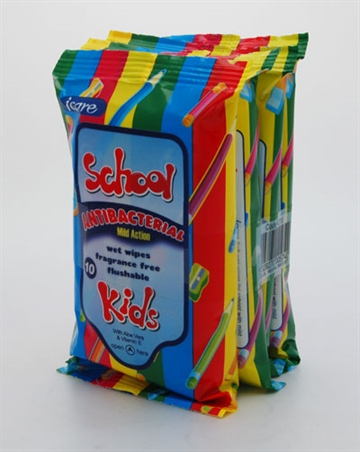 Icare School Kids Antibacterial Wipes 10'S