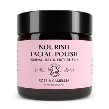 Botanicals Natural Organic Skincare Nourish Face Polish Rose and Camelia 60g Normal, Dry and Mature Skin