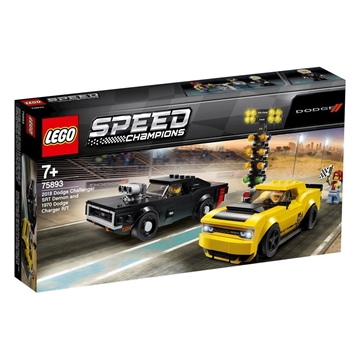 LEGO Speed Champions 2018 Dodge Challenger SRT Demon og 1970 Dodge Charger R/T 75893