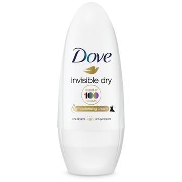 Dove roll-on deodorant 50ml. Invisible dry.