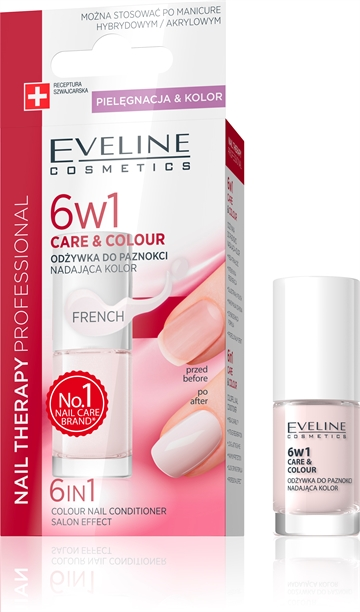 Eveline Nail Therapy 6In1 Care & Colour French 5ml