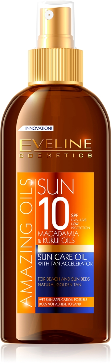 Eveline Amazing Oils Sun Care Oil With Tan Accelerator SPF10 150ml