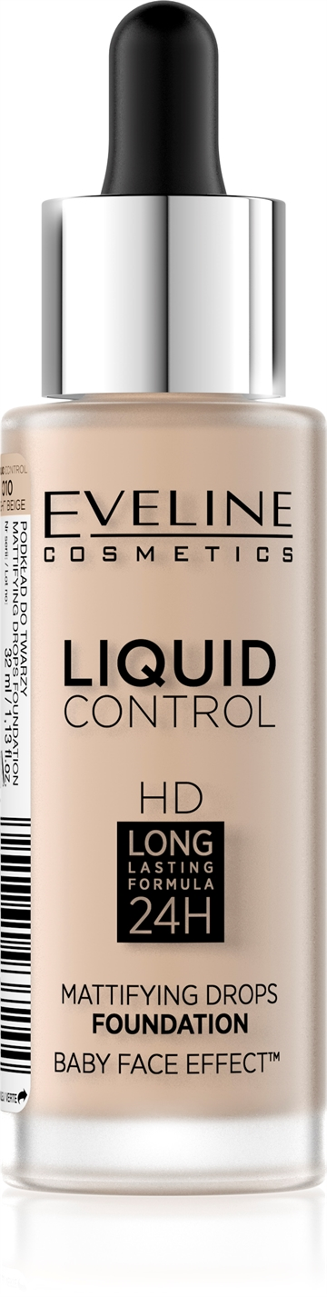 Eveline Liquid Control Foundation With Dropper 010 Light Beige 32ml