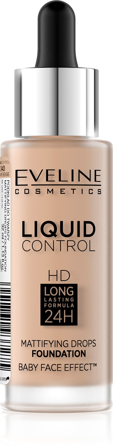 Eveline Liquid Control Foundation With Dropper 040 Warm Beige 32ml