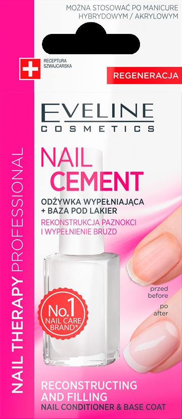 Eveline Nail Therapy Nail Cement Conditioner & Base Coat 12ml